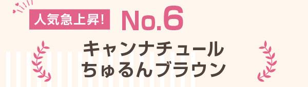 人気急上昇!No.6 キャンナチュール ちゅるんブラウン