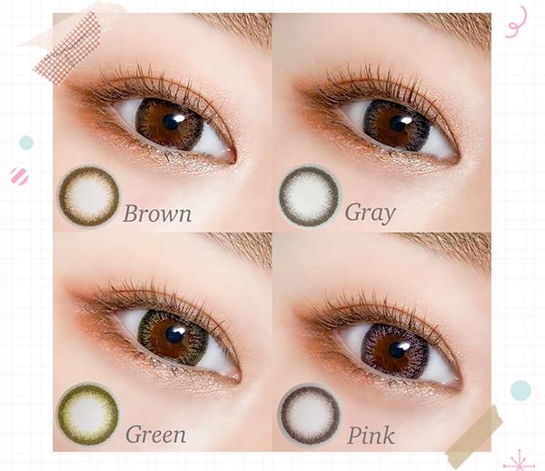 Brown Gray Green Pink